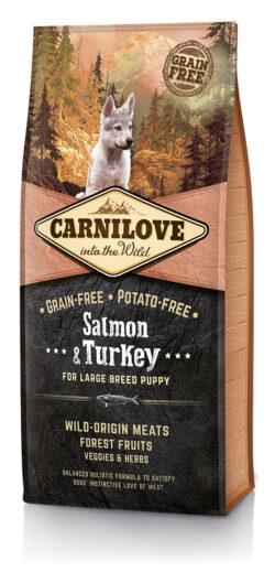 Carnilove Salmon & Turkey Large Breed Puppy - 12kg - karma sucha dla szczeniaka - miskakarmypl