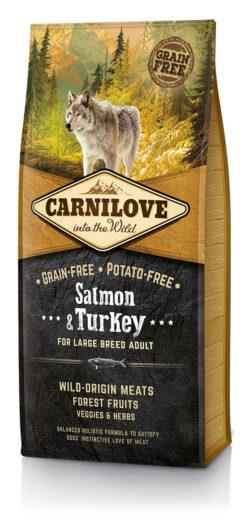 Carnilove - Salmon & turkey - Large Breed - 12kg - Sucha karma dla psa - miskakarmy.pl
