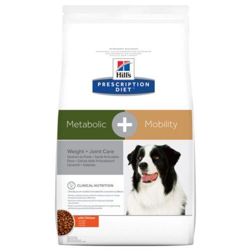 Hill's – Prescription – Metabolic + Mobilty - Pies - karma sucha – 12kg – MiskaKarmy.pl