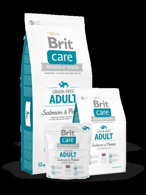 Brit Care Adult Salmon & Potato - 3kg, 12kg sucha karma dla psa miskakarmypl