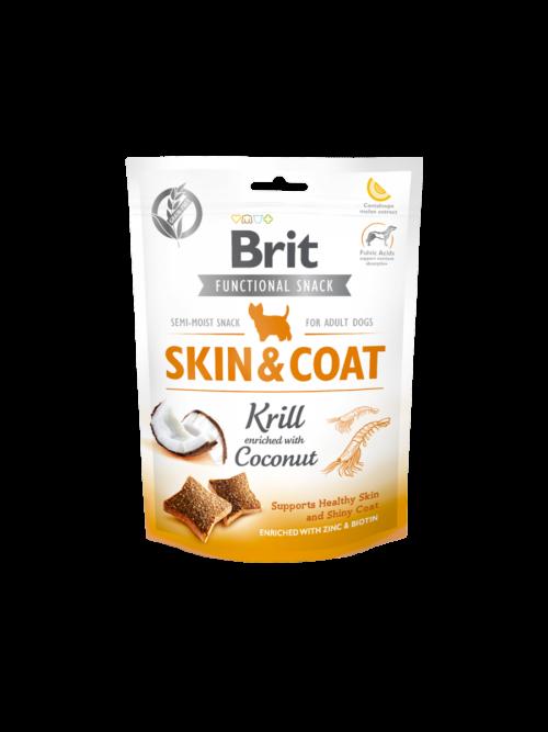 Brit Care Functional Snack Skin&Coat Krill - 150g przysmaki dla psa miskakarmypl