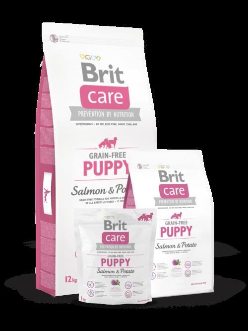 Brit Care Puppy Salmon & Potato - 3kg 12kg sucha karma dla szceniąt miskakarmypl