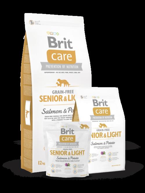 Brit Care Senior&Light Salmon & Potato - 3kg, 12kg sucha karma dla psa miskakarmypl