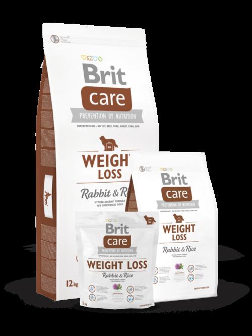 Brit Care Weight Loss 3kg, 12kg sucha karma dla psa miskarmypl