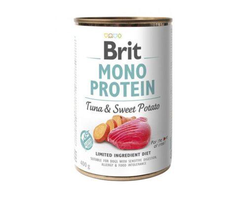 Brit Mono Protein - Tuńczyk Słodki Ziemniak - 400g puszka - karma mokra monobiałkowa - MiskaKarmy.pl