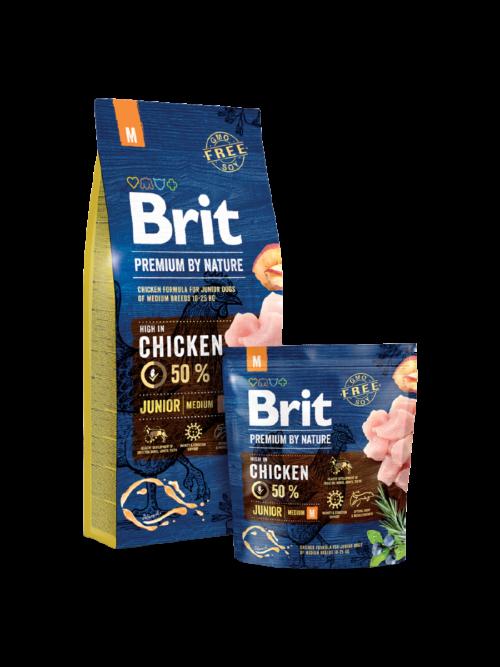 Brit Premium By Nature Junior M - sucha karma dla psa - miskakarmypl