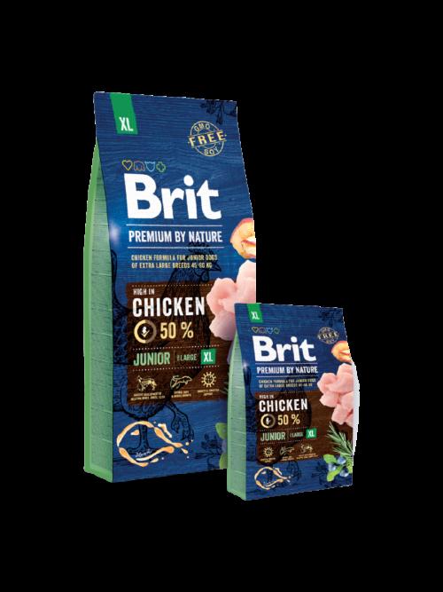 Brit Premium By Nature Junior XL - sucha karma dla psa - miskakarmypl