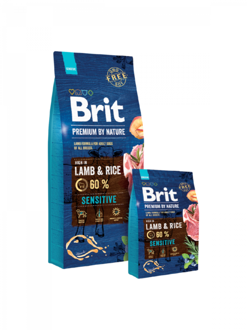 Brit Premium By Nature Sensitive Lamb - sucha karma dla psa - miskakarmypl