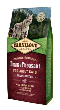 Carnilove - Duck & Pheasant Hairball Control - 6kg - sucha karma dla kotów - miskakarmypl