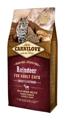 Carnilove - Reindeer - Energy & Outdoor - 6kg - sucha karma dla kota - miskakarmypl