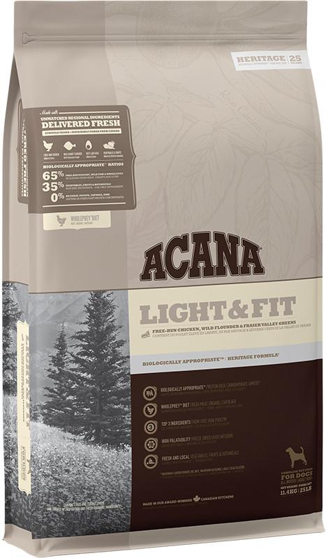 Acana Heritage Light Fit Dog - sucha karma - pies dorosły - 11,4kg - MiskaKarmy.pl