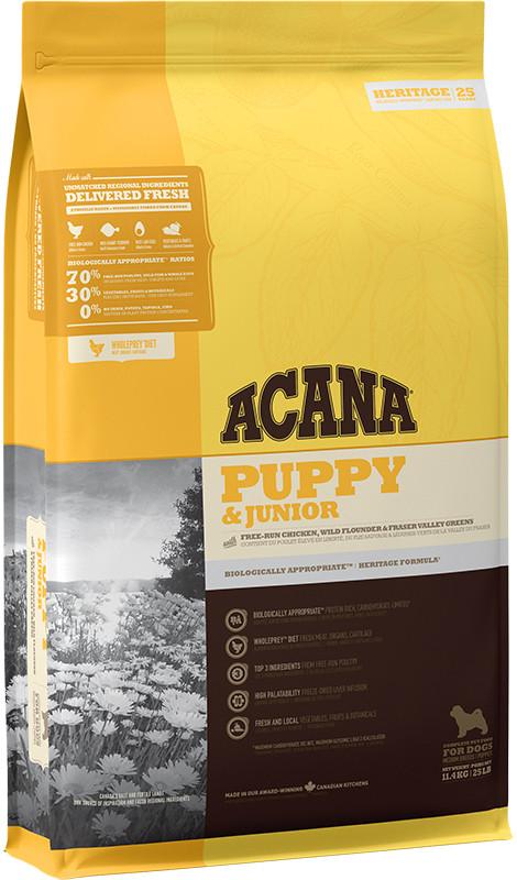 Acana Heritage Puppy & Junior - sucha karma - szczeniak - 11,4kg - MiskaKarmy.pl