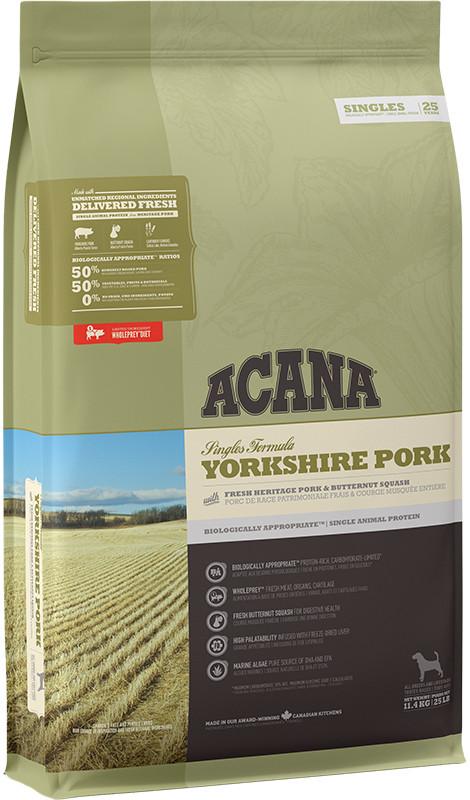 Acana Singles Yorkshire Pork - sucha karma dla psa - 11,4kg - MiskaKarmy.pl