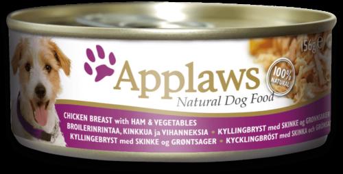 Applaws Dog - Kurczak Szynka Warzywa - 156g puszka dla psa - MiskaKarmy.pl