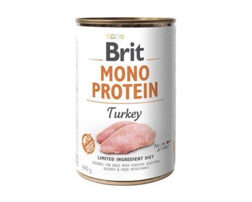 Brit Mono Protein - Indyk - 400g puszka - karma mokra monobiałkowa - MiskaKarmy.pl