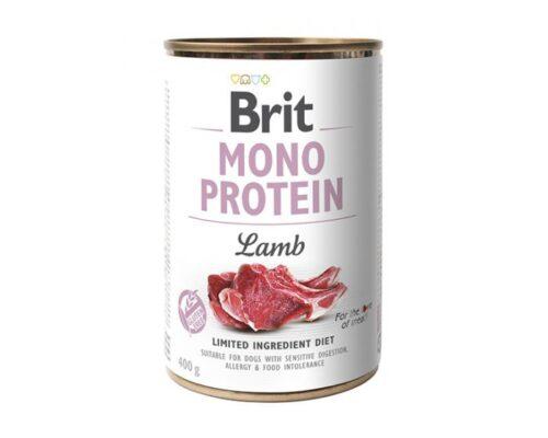 Brit Mono Protein - Jagnięcina - 400g puszka - karma mokra monobiałkowa - MiskaKarmy.pl