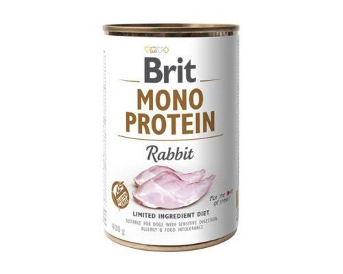 Brit Mono Protein - Królik - 400g puszka - karma mokra monobiałkowa - MiskaKarmy.pl