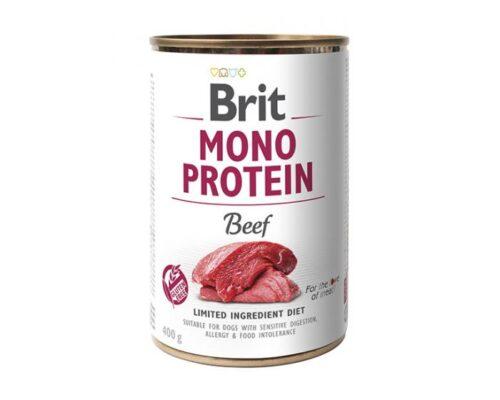 Brit Mono Protein - Wołowina - 400g puszka - karma mokra monobiałkowa - MiskaKarmy.pl