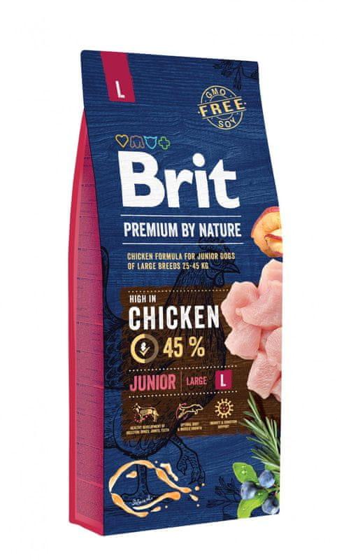 Brit Premium By Nature - Junior L - Kurczak - 15kg - sucha karma szczeniak - MiskaKarmy.pl