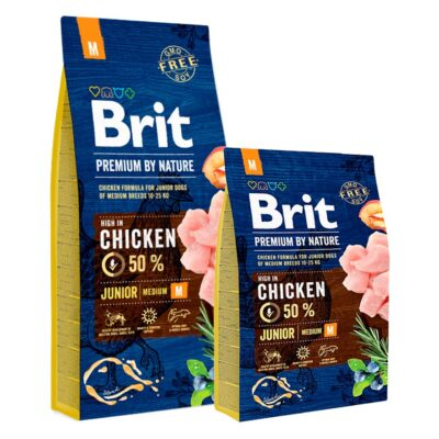 Brit Premium By Nature - Junior S - Kurczak - 3kg-15kg - sucha karma szczeniak - MiskaKarmy.pl