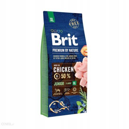 Brit Premium By Nature - Junior XL - Kurczak - 15kg - sucha karma szczeniak - MiskaKarmy.pl