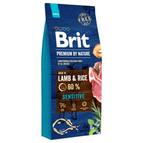 Brit Premium By Nature - Sensitive Lamb - Jagnięcina Ryż - 15kg sucha karma - MiskaKarmy.pl