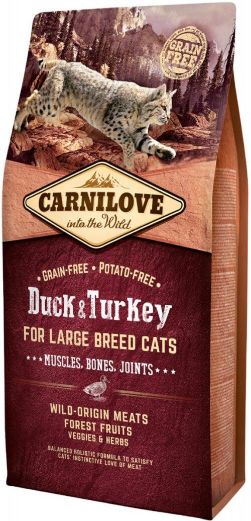 Carnilove - Duck & Turkey - 6kg - karma sucha - kot rasa duża - miskakarmypl