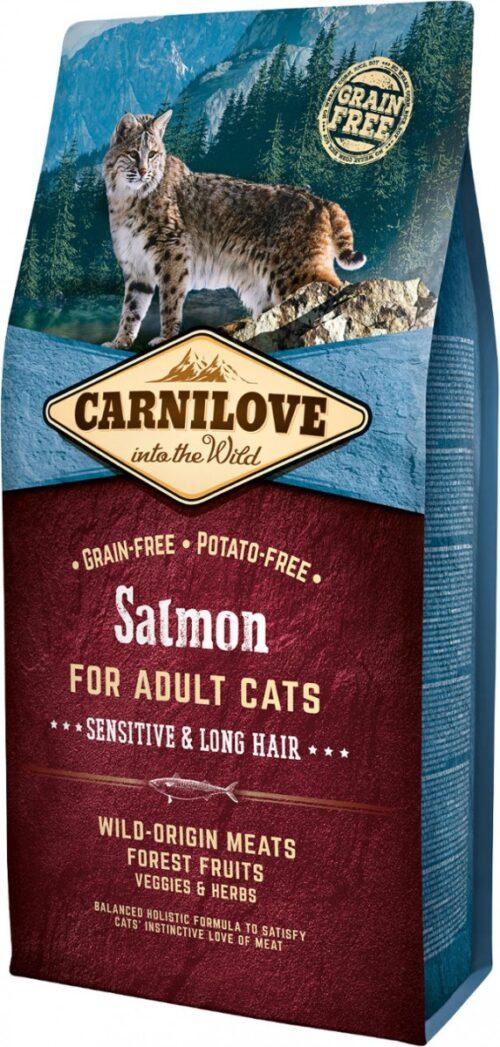 Carnilove - Salmon - 6kg - karma sucha - kot dorosły długowłosy - miskakarmypl