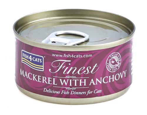 Fish4Cats – Finest Makrela Anchois - karma mokra - 70g – MiskaKarmy.pl