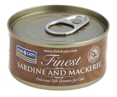 Fish4Cats – Finest Sardynka Makrela- karma mokra - 70g – MiskaKarmy.pl