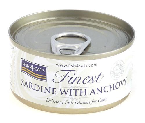 Fish4Cats – Finest Sardynka Anchois - karma mokra - 70g – MiskaKarmy.pl
