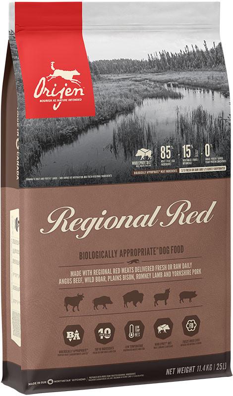 Orijen Regional Red - sucha karma dla psa - 11,4kg - MiskaKarmy.pl