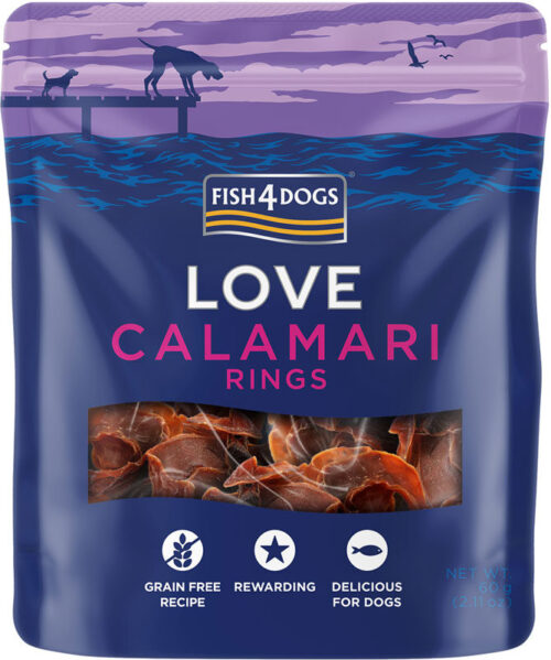 Fish4Dogs – Calamari Rings - przysmaki – 60g - MiskaKarmy.pl