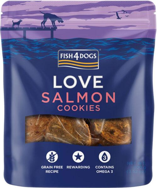 Fish4Dogs – Salmon Cookies - przysmaki – 100g - MiskaKarmy.pl