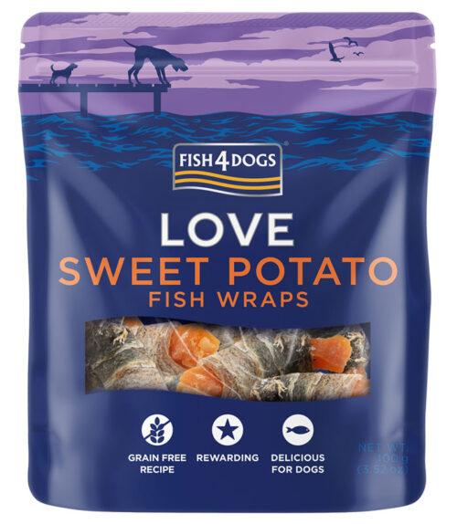 Fish4Dogs – Sweet Potato Wraps - przysmaki – 90g - MiskaKarmy.pl
