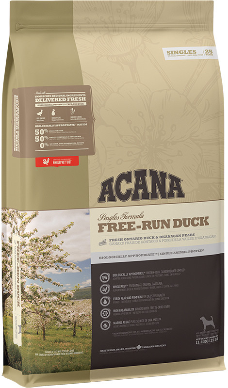 Acana Singles Free-Run Duck - sucha karma dla psa - 11,4kg - MiskaKarmy.pl