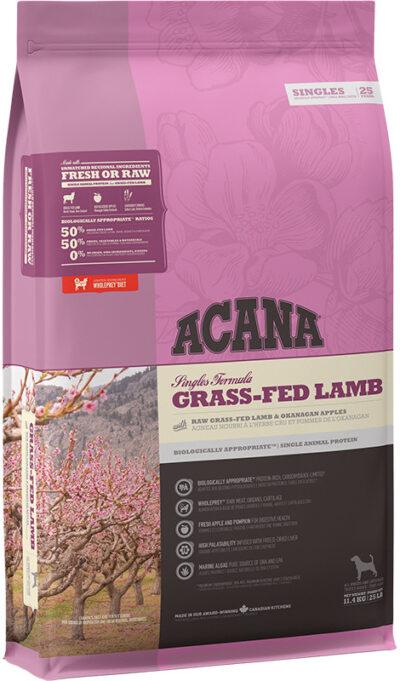 Acana Singles - Grass-Fed Lamb - sucha karma dla psa - 11,4kg - MiskaKarmy.pl
