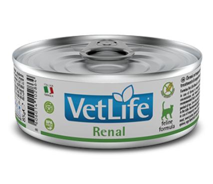 Farmina Vet Life Renal - Karma mokra dla kota weterynaryjna - puszka 85g - miskakarmypl