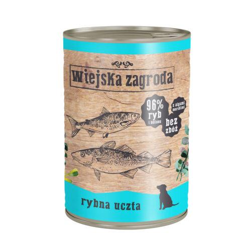 Wiejska Zagroda - Rybna Uczta - Pies - Mokra – front - 400g – MiskaKarmy.pl