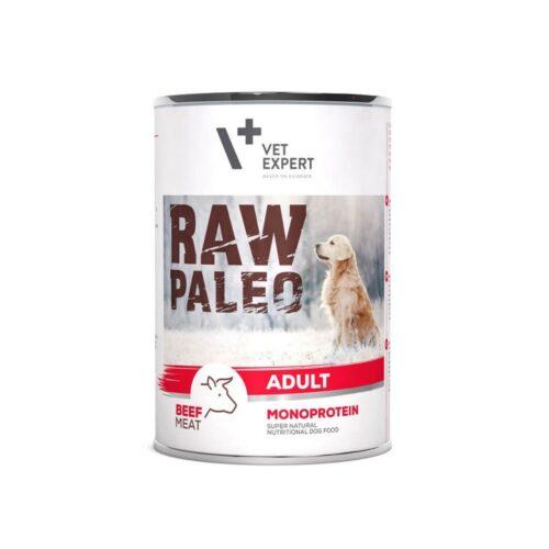 VetExpert RAW PALEO Adult Dog Beef - Karma moka dla psa puszka - miskakarmypl