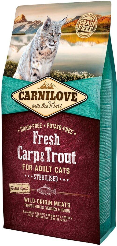 Carnilove Fresh Carp & Trout Sterilised - 6kg - karma sucha - kot - sterylizacja - miskakarmypl