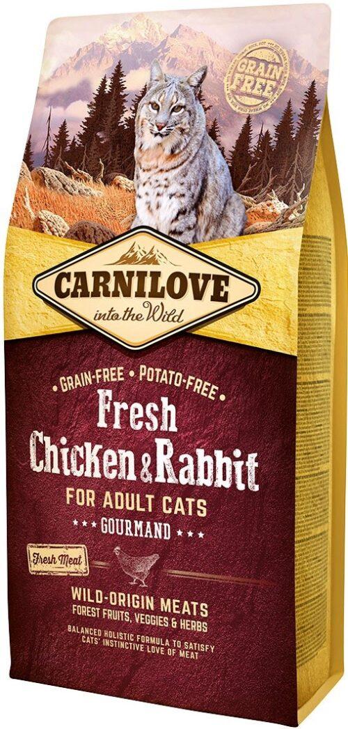 Carnilove Fresh Chicken & Rabbit Gourmand - 6kg - karma sucha - kot - miskakarmypl