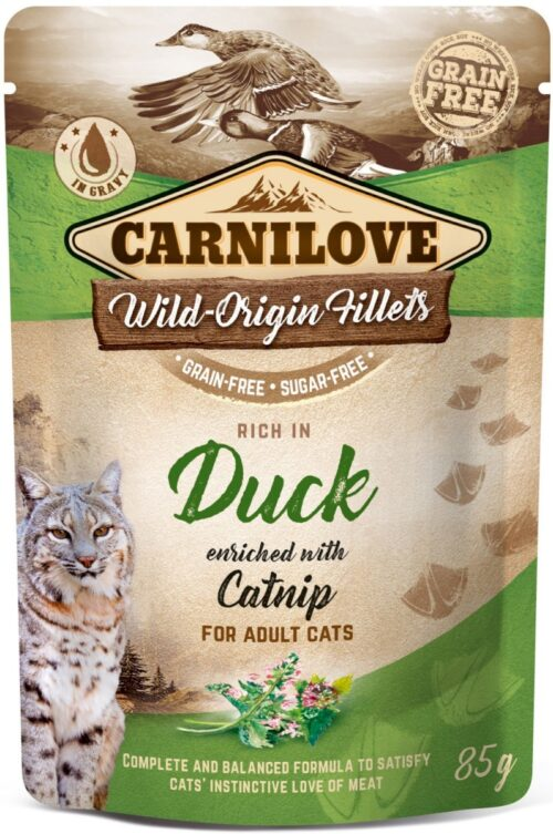 Carnilove - Duck & Catnip - saszetka 85g - karma mokra kot - miskakarmypl
