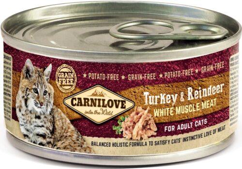 Carnilove - Chicken & Reindeer - puszka 100g - karma mokra kot - miskakarmypl