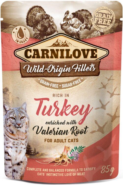 Carnilove - Turkey & Valerian - saszetka 85g - karma mokra kot - miskakarmypl