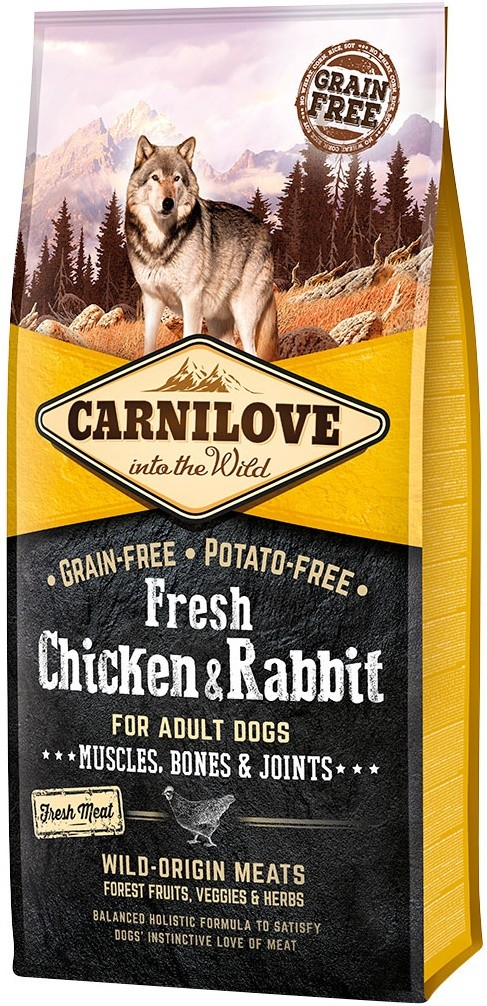 Carnilove Fresh Chicken & Rabbit - 12kg - karma sucha - pies - miskakarmypl