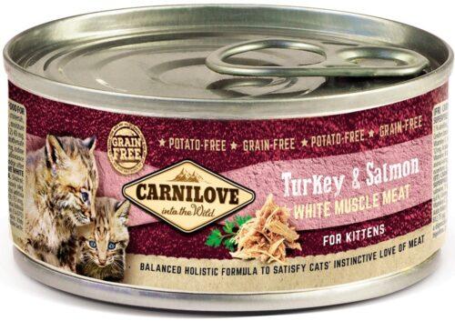 Carnilove - Turkey & Salmon - Kitten - puszka 100g - karma mokra kocięta - miskakarmypl