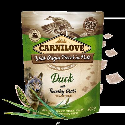 Carnilove Duck with Timothy Grass - 300g saszetka dla psa misakakarmypl