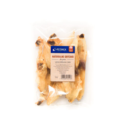 Ucho królika - 100g - gryzak dla psa - miskakarmypl