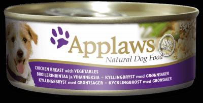 Applaws - Kurczak i warzywa - 156g - puszka mokra karma dla psa - miskakarmypl